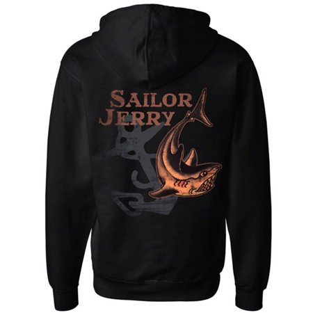 Sailor Jerry Men's Shark Week Zip - Shark Hoodie Halloween
