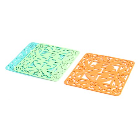 - Kitchenware Rubber Table Protector Cup Heat Resistant Mat Pad 3 Pcs