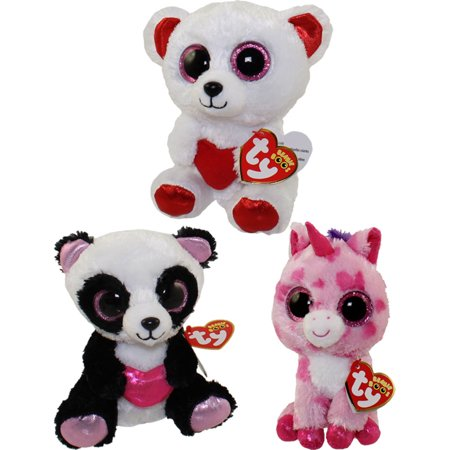 44c9509152a TY Beanie Boos - SET of 3 VALENTINES 2016 Releases (Regular Size - 6  inch)(Cutie Pie