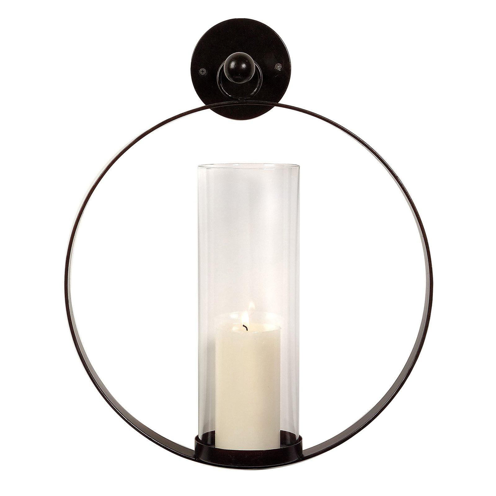 Imax Circle Metal Candle Wall Sconce Walmart Com