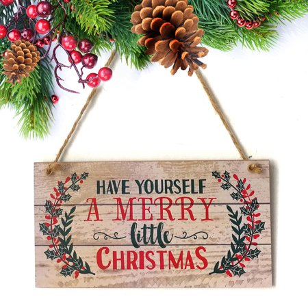 Christmas Indoor And Outdoor Wood Hanging Door Decorations and Haunted - 80s Christmas Decorations