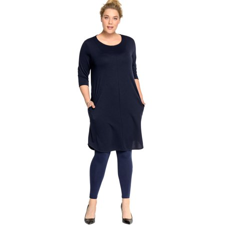 Ellos Plus Size A-line French Terry - Terry Dress