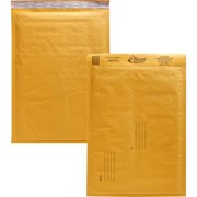 Alliance Rubber Kraft Bubble Mailer, Size #4, Pack of 25