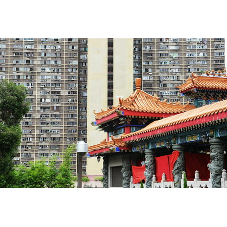 Canvas Print Big City Hong Kong Architecture Structures City Stretched Canvas 10 x 14
