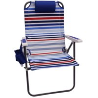 Mainstays Reclining Red & White & Blue Stripe Oversize Chair