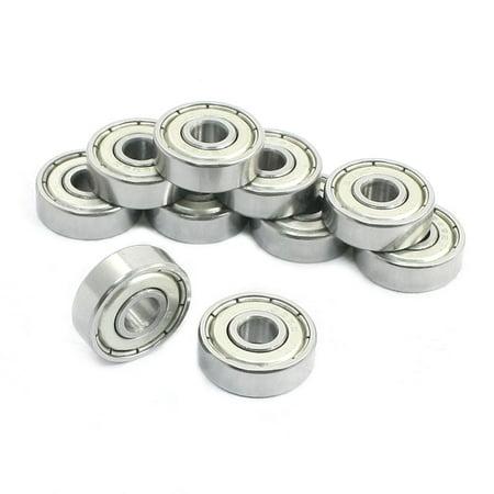 10 Radial Ball Bearings (Unique Bargains 626Z Metal Shields Sealed Deep Groove Radial Ball Bearings 6x19x6mm 10Pcs)