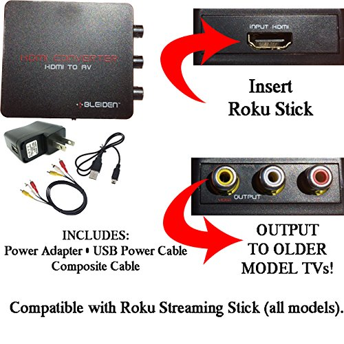 HDMI to 3RCA Composite AV Converter for Roku Streaming St...