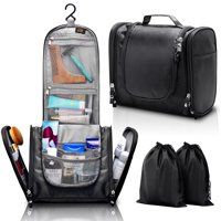 Hanging Toiletry Bag, ELV Large Travel Toiletry Bag Kit Organizer Washable Portable Waterproof Cosmetic Makeup Bag for Bathroom Shower, Gym, Camping for Women & men