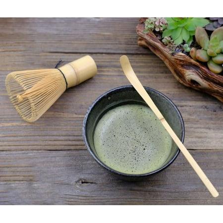 Brushed Bamboo - Matcha Whisk Brush Set w Bowl Scoop Japanese Green Tea Bamboo Preparing Tool EHD 1
