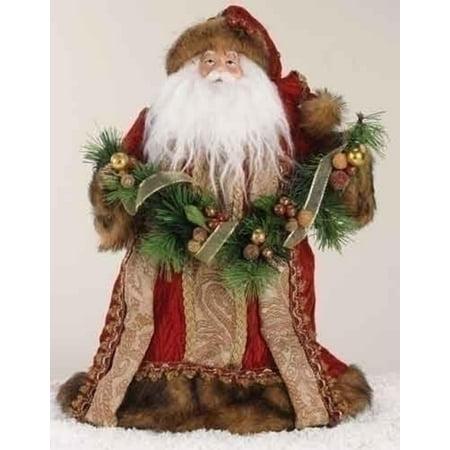14 lavish santa claus in burgundy robe christmas tree topper - Walmart Christmas Tree Toppers