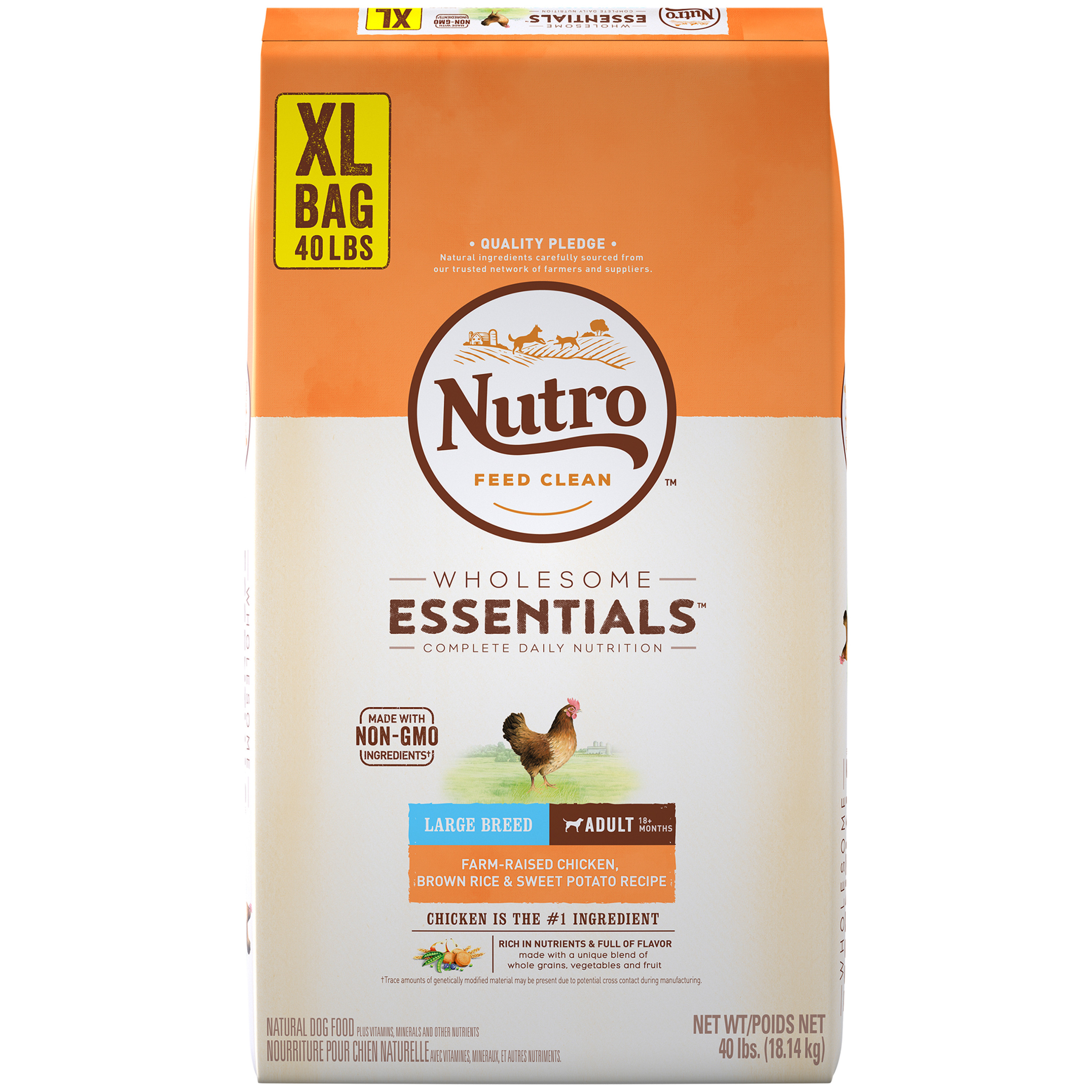 Nutro wholesome essentials large breed adult dry dog food farm nutro wholesome essentials large breed adult dry dog food farm raised chicken brown rice sweet potato recipe 40 lb walmart forumfinder Choice Image