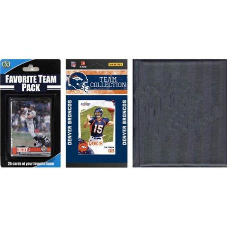 C & I Collectables 2010BRONCOSTSC NFL Denver Broncos Licensed 2010 Score Team Set and Favorite Player Trading Card Pack Plus Storage Album