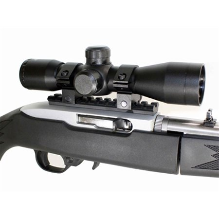 Trinity Rail - 4X32 MildDot Scope Kit For Ruger 10 22 TRINITY Weaver Rail Rings Complete Kit.
