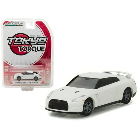 2014 Nissan GT-R R35 White Pearl Tokyo Torque Series 1 1/64 Diecast Model Car by Greenlight