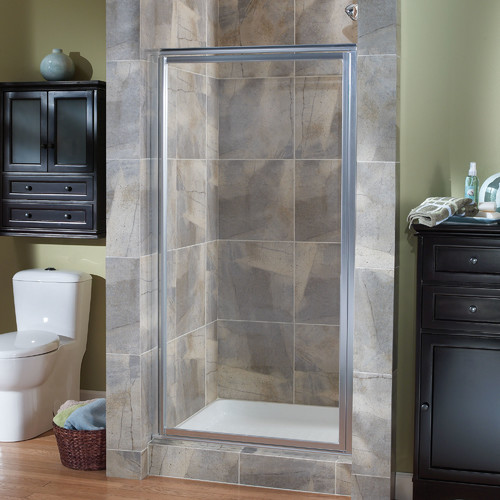 Hazelwood Home Chase 35'' x 65'' Pivot Framed Continuous Shower Door