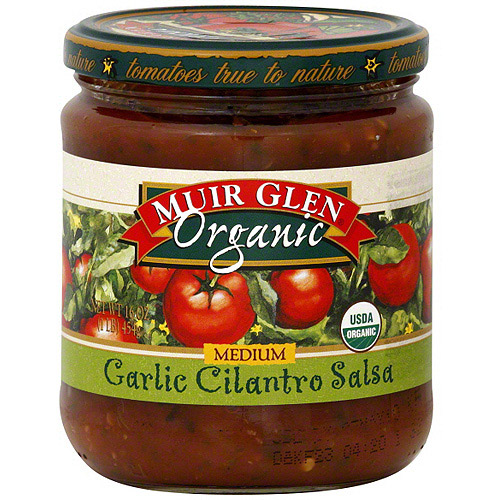 Muir Glen Medium Garlic Cilantro Salsa, 16 oz (Pack of 6)