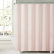 """Honeycomb Embossed Microfiber Polyester Shower Curtain 70""""x72"""" Blush"""