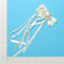 Expo Int'l Bridal Ribbon Bow with Rosette and Pearls
