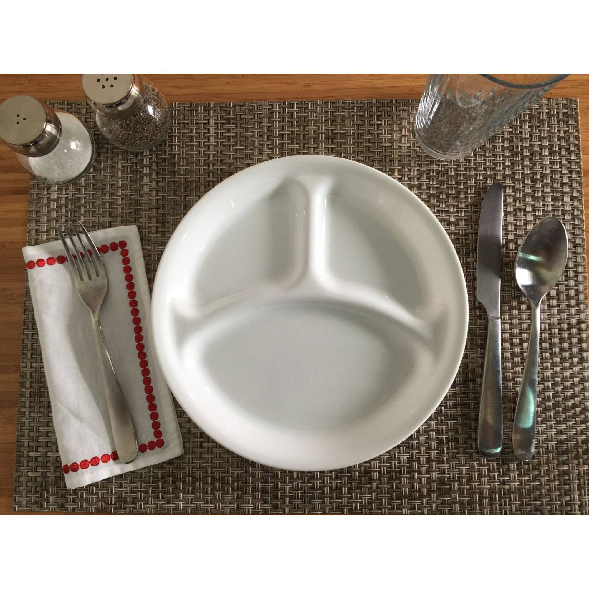 Corelle Livingware Winter Frost White 10 25 Divided Dish Set Of 6