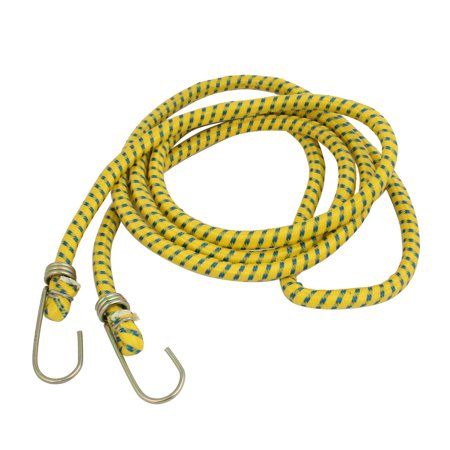 Unique Bargains Truck Car 2 Metal Hook Nylon Braided Strap Towing Rope 2.15M Yellow