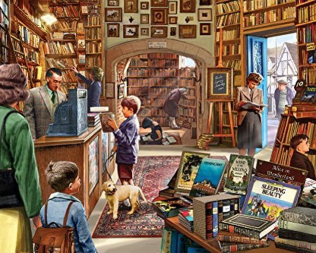 White Mountain Puzzles Old Book Store 1000 Piece Jigsaw Puzzle by White Mountain Puzzles