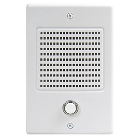 M & S SYSTEMS DS-3B Door Intercom Station with Bell Button, White Faceplate By MS Systems