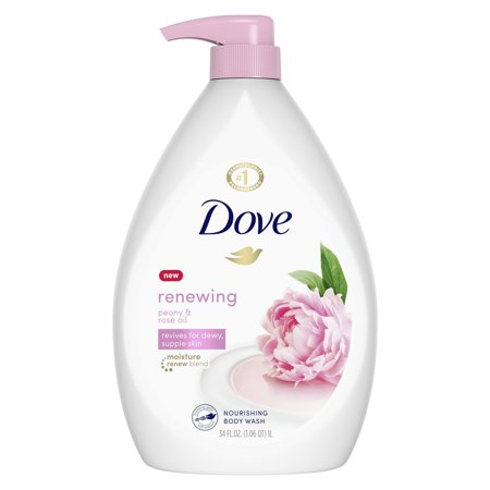 (2 pack) Dove Purely Pampering Sweet Cream & Peony Body Wash Pump, 34