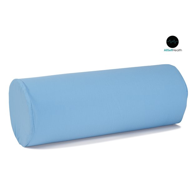 round cervical roll bolster pillow cushion with removable washable cover ergonomically designed for head neck back and legs ideal for spine and