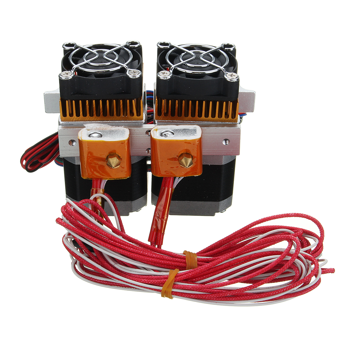 24V MK8 Upgrade 3D Print Head Kit 1.75mm Filament Extra Nozzle 0.4MM Feed Inlet Diameter 3D Printer Nozzle Extruder For Prusa i3 3D Printer