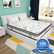 [100 Nights-Free Trial]Morpilot 10 inch innerspring Hybrid Mattress in a Box, CertiPUR-US, 10 Year Warranty,Full