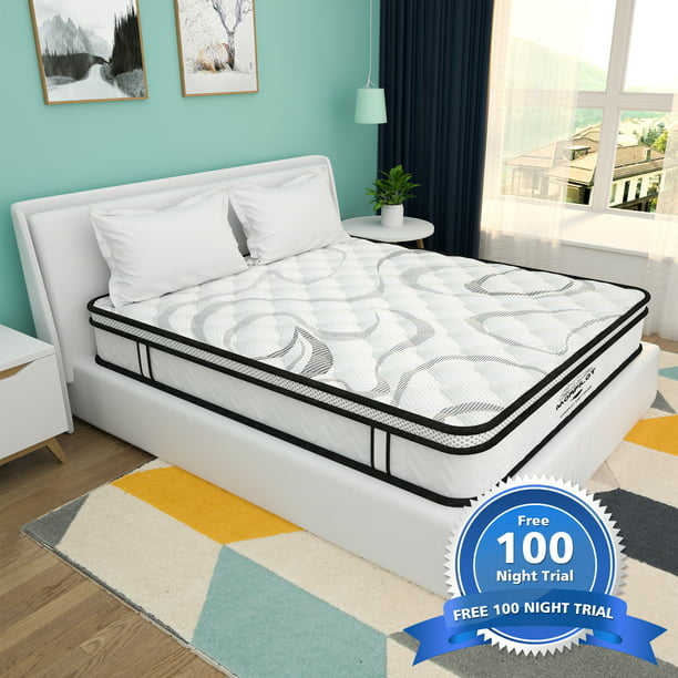 [Free Trial]Morpilot 10 inch Memory Foam/spring Mattress in a Box, Breathable Bed Mattress with CertiPUR-US Certified Foam for Sleep Supportive & Pressure Relief, 10 Year Warranty