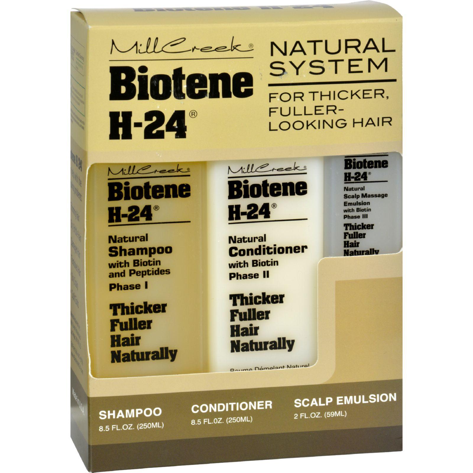 Mill Creek Biotene H-24 Tri-Pack Shampoo Conditioner Scalp Emulsion - 1 Set