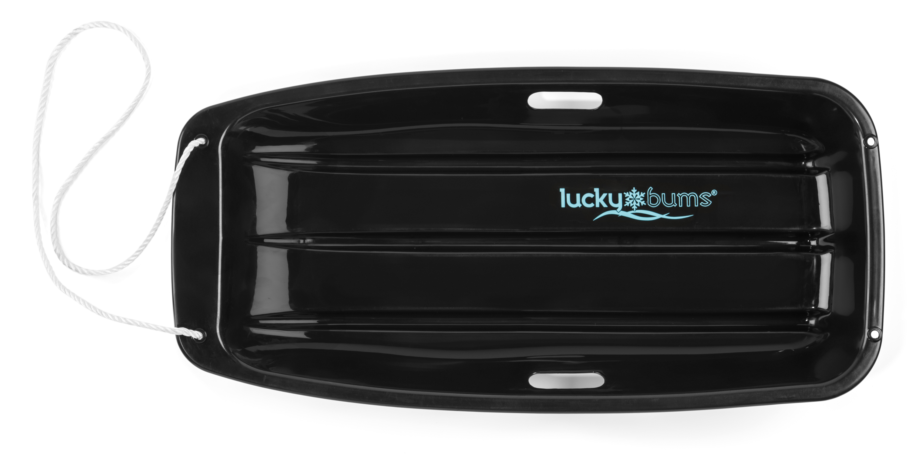 Lucky Bums Snow Kids Boys Girls Toboggan Sled, Black, 33-inch by Lucky Bums