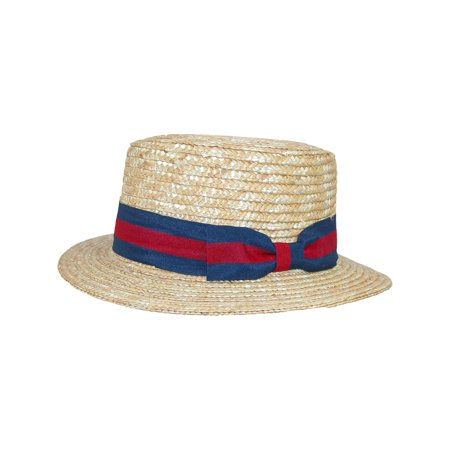 Size one size Kids' Straw Boater Hat, - Boater Hats