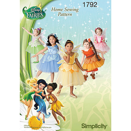 Simplicity Pattern Toddler's and Child's Disney Fairies Costume, (4, 5, 6, 7, 8)