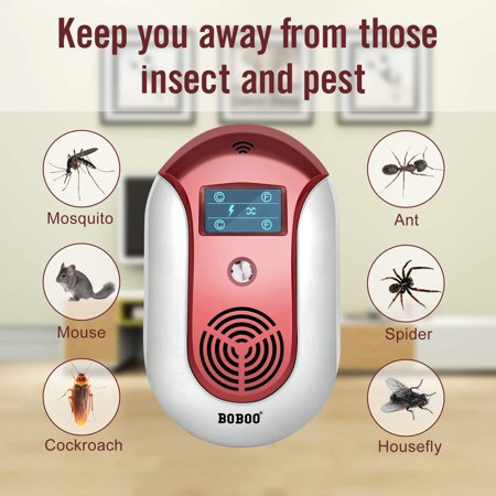 2018 MOST POWERFUL Ultrasonic Electromagnetic Pest Repeller WITH LED - Electronic Plug -In Pest Control Ultrasonic - Best Repellent for Cockroach, Rodents, Flies, Roaches, Ants, Mice,Spiders,