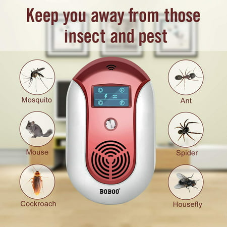 2018 MOST POWERFUL Ultrasonic Electromagnetic Pest Repeller WITH LED - Electronic Plug -In Pest Control Ultrasonic - Best Repellent for Cockroach, Rodents, Flies, Roaches, Ants, Mice,Spiders, Fleas](Pest Control Costume)