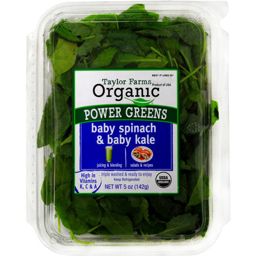 Taylor Farms Organic Power Greens Baby Spinach&Baby Kale, 5oz