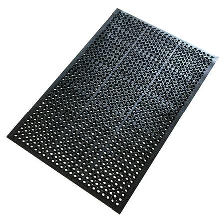 A1hc Octagonal Holes 100 Rubber 36 X 60 Ramp Kitchen Outdoor Anti Fatigue Mat Black