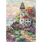 "Gold Petite Beacon At Daybreak Counted Cross Stitch Kit-5""X7"" 18 Count"