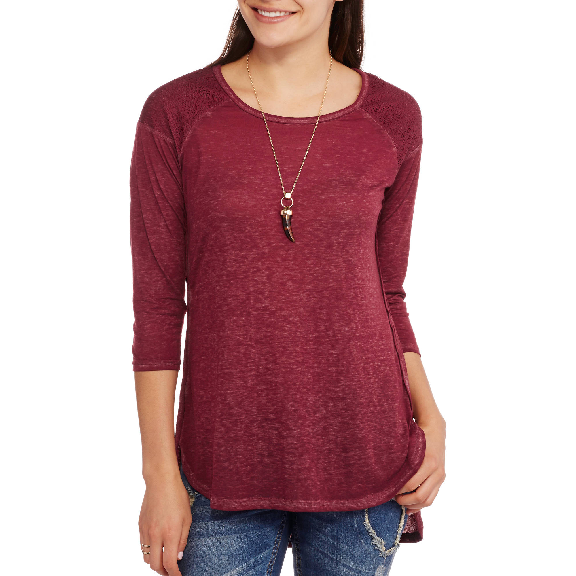 French Laundry Women's Textured Burnout Tunic Top