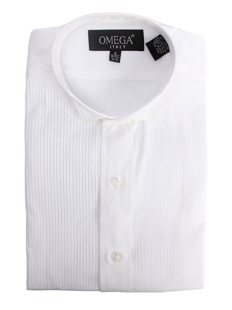 Gravity Threads Mens 1/8 inches Pleat Tuxedo Dress Button Down Shirt