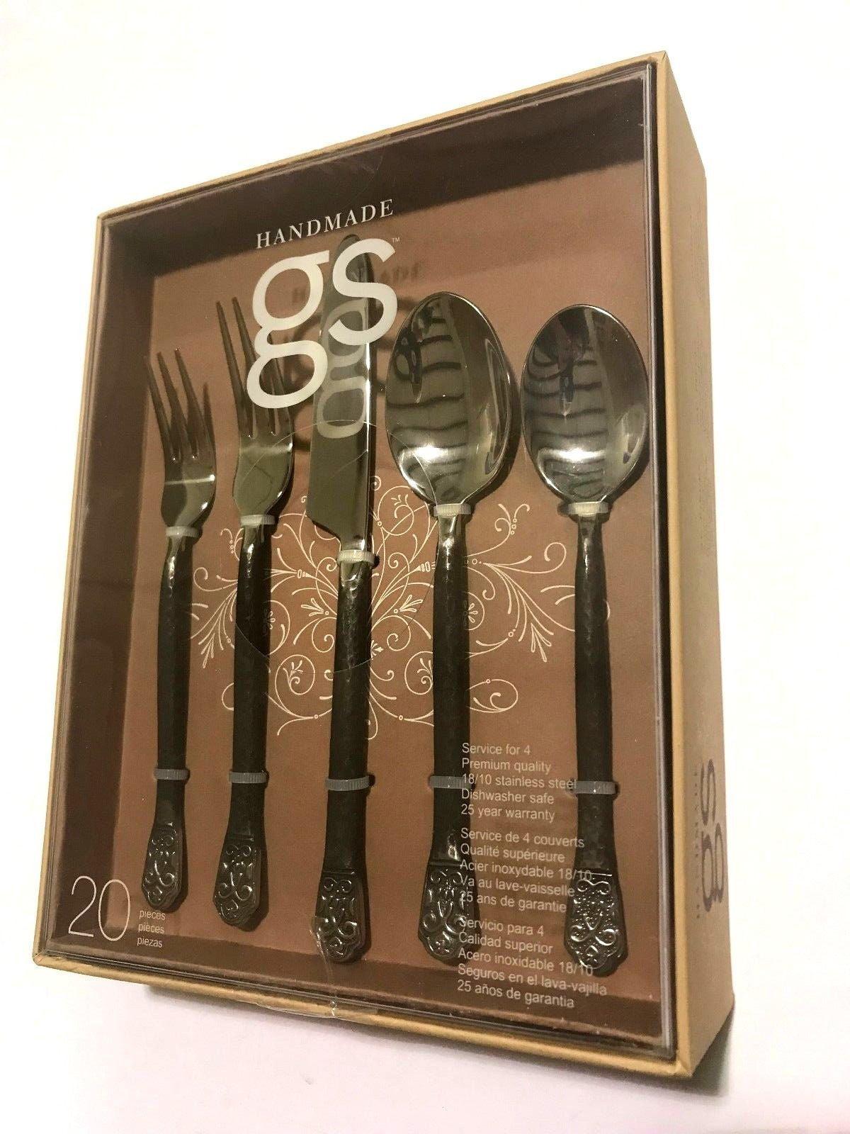Service for 4 Gourmet Settings Avalon 20-Piece Flatware Set