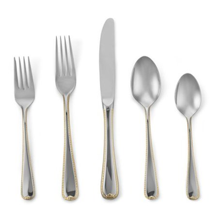 Golden Ribbon Edge Dinner Fork, Dimensions: N\A By Gorham