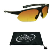 proSPORT Bifocal Sunglasses for Mens & Womens. HD Vision with Semi Rimless Wraparound Frame for Cycling, Running, Fishing, Golf and Driving.