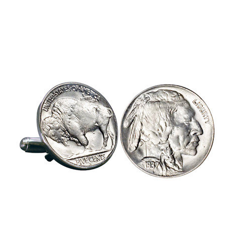 Buffalo Nickel Coin Cuff Links