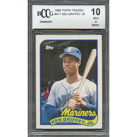 1989 topps traded #41t KEN GRIFFEY JR seattle mariners rookie card BGS BCCG 10