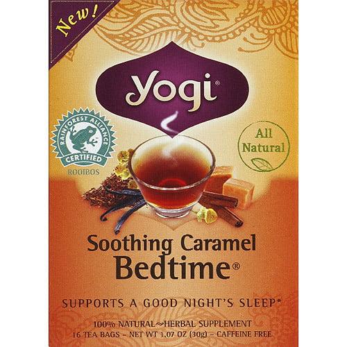 Yogi Soothing Caramel Bedtime Herbal Supplement Tea Bags, 1.07 oz, (Pack of 6)