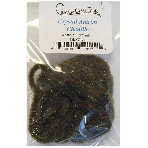 Cascade Crest Crystal Antron Chenille, Light Olive