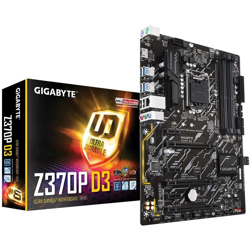 Gigabyte Z370P D3 Z370 LGA-1151 Coffee Lake DDR4 ATX Motherboard